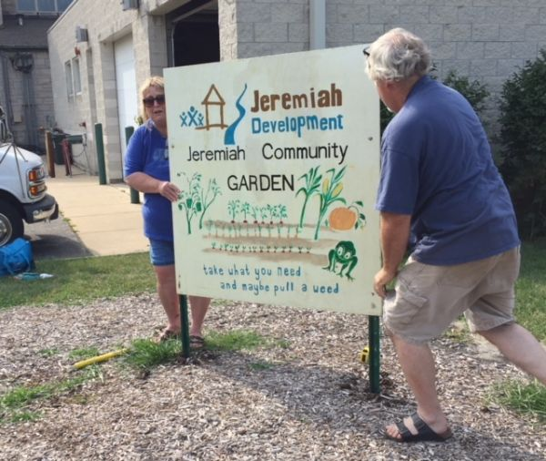 Jeremiah Development Signage re-installed